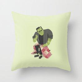 Frankenstein's Stitches Throw Pillow