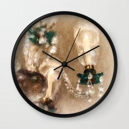 Chandelier At Winterthur Wall Clock