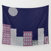 buildings Wall Tapestries featuring Buildings by Marie Libot