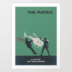 The Matrix Minimalist Poster- Dodge This Art Print