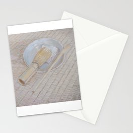 tea bowl, whisk and scoop Stationery Cards