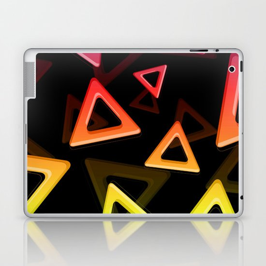 80's Triangles Laptop & iPad Skin