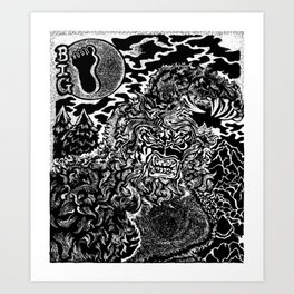 Sasquatch Siting Art Print