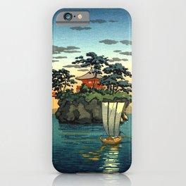 Tsuchiya Koitsu - Matsushima - Japanese Vintage Woodblock Painting iPhone Case