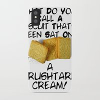 pun iPhone & iPod Cases featuring Crushtard Cream Pun by georgestow