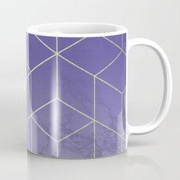 Geometric Marble Ultraviolet Purple Gold Coffee Mug