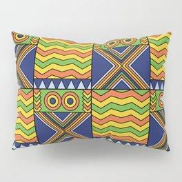 African Kente Yellow Green Orange Pillow Sham