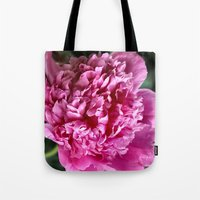 peony Tote Bags featuring Peony by IowaShots