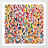 it crowd Art Prints featuring crowd by cheryl warrick designs