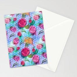 Soft Australian Native Floral Print Stationery Cards
