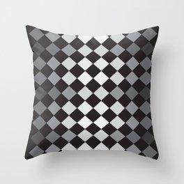 Argyle Pattern- Smaller Diamonds Throw Pillow