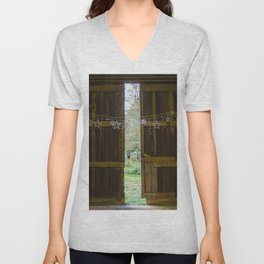 Through the barn door  Unisex V-Neck