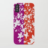 climbing iPhone & iPod Cases featuring Climbing Flowers by Mari Biro