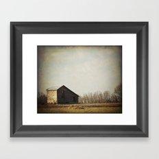Pastoral with Barn Framed Art Print