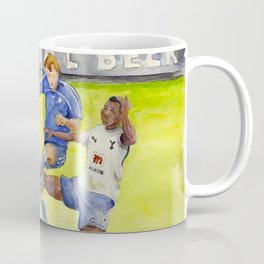 Ledley King tackles Robben Coffee Mug