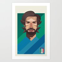 pirlo Art Prints featuring Pirlo - The Architect by Muito
