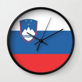 Slovenian Flag Wall Clock