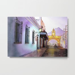 Arch of Santa Catalina in the city of Antigua, Guatemala Metal Print
