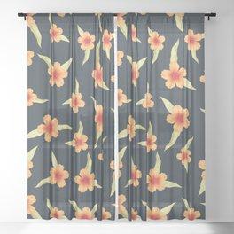 Hibiscus  Sheer Curtain