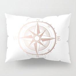 Rose Gold Compass Pillow Sham