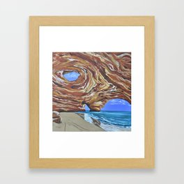 In The Cleft Framed Art Print