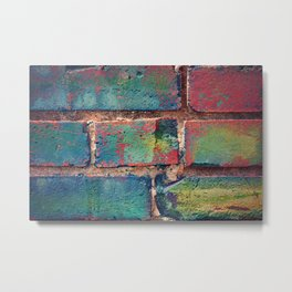 The Rainbow Brick Wall Metal Print