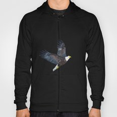 Bald eagle in flight Hoody