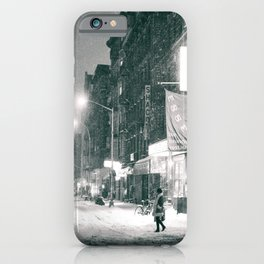 New York City - Night in the Winter - Lower East Side iPhone Case