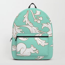 Squirrels and Acorns Aqua Backpack
