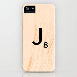 Scrabble Letter J - Large Scrabble Tiles iPhone Case
