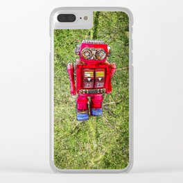 RED ROBOT Clear iPhone Case