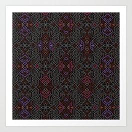 Autumn Tribal Pattern #1 Art Print