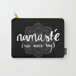 Namasté (dark mandala) Carry-All Pouch