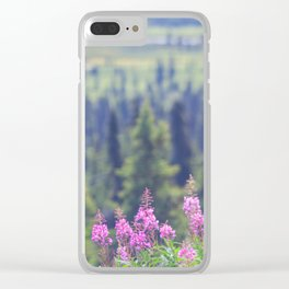 Rising Fireweed Clear iPhone Case