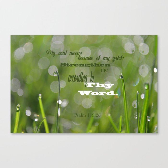 Psalm 119 Tears Canvas Print