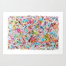 Pug in monster land Art Print