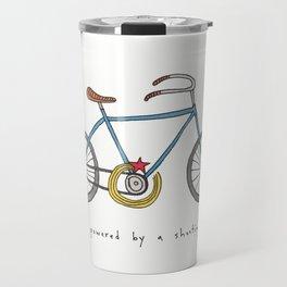 bicycle powered by a shooting star Travel Mug