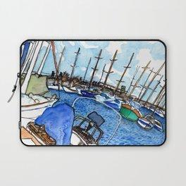 Boats at the Marina Laptop Sleeve