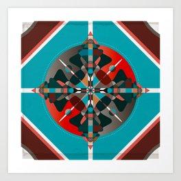 Compass, Palette 2 Art Print