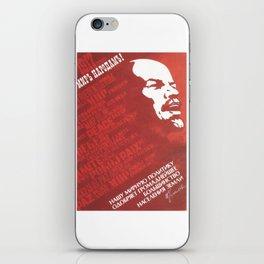 Russia, URSS Vintage, peace iPhone Skin