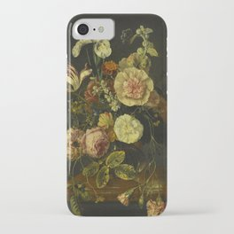 Jacob Van Walscapelle - Still Life With Flowers iPhone Case