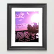 As the Sun Sets Framed Art Print