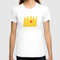 crown T-shirts featuring Crown by Mia Page
