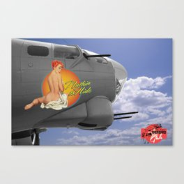 Nuthin to Hide -Warbid Girl  Canvas Print