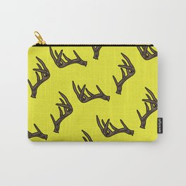 Yellow Antler Pattern Carry-All Pouch