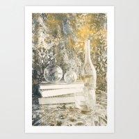 Still Life with Glass Art Print