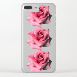 isolated pink rose pop art photography by cecilia lee Clear iPhone Case