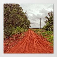 Red Road to Nowhere Canvas Print