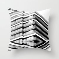 budapest hotel Throw Pillows featuring Hotel Merriot Budapest. Deconstruction by Villaraco