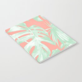 Island Love Coral Pink + Light Green Notebook